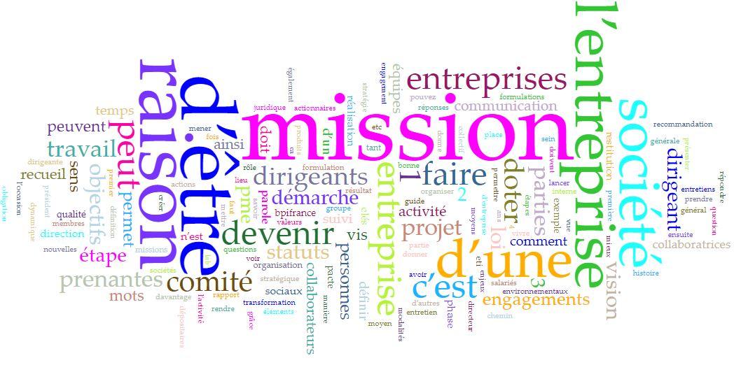 Cartographie Analyse Sémantique Entreprise à Mission